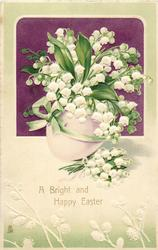 A BRIGHT AND HAPPY EASTER  lilies-of-the-valley in pale purple egg