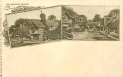 OLD SHANKLIN VILLAGE 2 inset views of houses on street//SHANKLIN, I. OF WIGHT