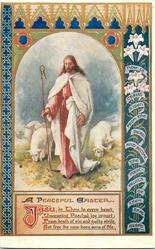 A PEACEFUL EASTER  Jesus as shepherd, sheep