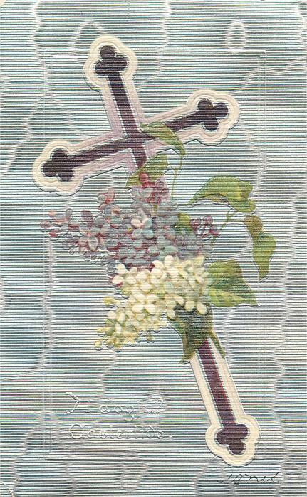 A JOYFUL EASTERTIDE  purple cross, lilac