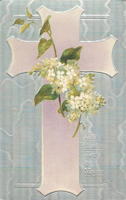 ALL EASTER JOY BE YOURS  pink cross, white lilac