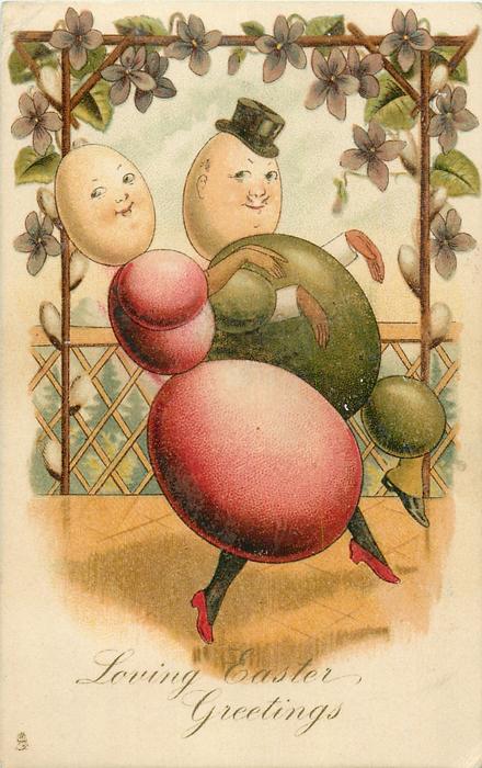 LOVING EASTER GREETINGS  egg-couple dance right
