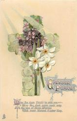 EASTER PEACE  floral cross, narcissi