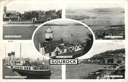 5 insets  THE BATHING POOL/THE FIRTH OF CLYDE/CLOCH LIGHTHOUSE/S.S. JUPITER AT GOUROCK/VIEW FROM THE WEST