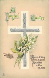 A JOYFUL EASTER  silver cross, lilies-of-the-valley