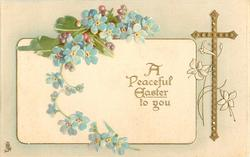 A PEACEFUL EASTER TO YOU forget-me-nots
