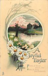 A JOYFUL EASTER  rural insert, daisies