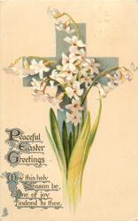 PEACEFUL EASTER GREETINGS  white single hyacinth