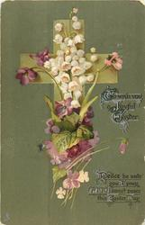 TO WISH YOU A JOYFUL EASTER  lilies-of-the-valley & violets