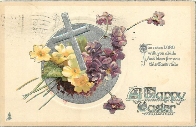A HAPPY EASTER  narcissi & violets