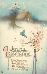 A JOYFUL EASTERTIDE  cottage, blossom