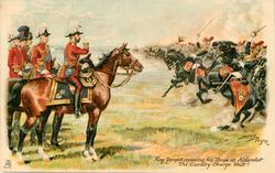 KING GEORGE V REVIEWING HIS TROOPS AT ALDERSHOT  THE CAVALRY CHARGE. HALT!