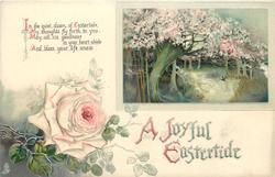 A JOYFUL EASTERTIDE  rose, insert