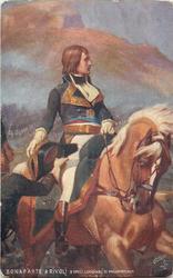 front BONAPARTE A RIVOLI, D'APRES L'ORIGINAL DE PHILIPPOTEAUX, back NAPOLEON AT RIVOLI