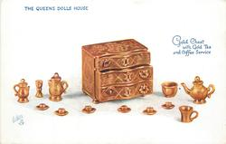 GOLD CHEST WITH GOLD TEA AND COFFEE SERVICE