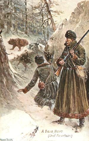 A BEAR HUNT (URAL MOUNTAINS)