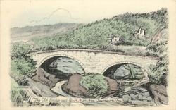 THE OLD BRIDGE AND RIVER MORISTON