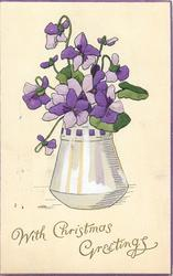 WITH CHRISTMAS GREETINGS  violets