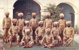 GROUP OF SIKH NATIVE OFFICERS