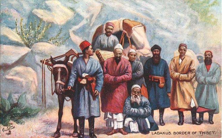 LADAKUS, BORDER OF THIBET(now Tibet)