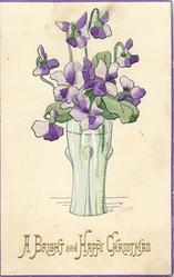 A BRIGHT AND HAPPY CHRISTMAS  violets