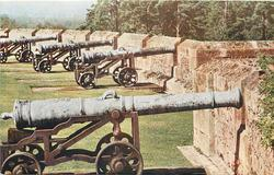 THE SEMI-CIRCULAR BATTERY OF OLD CANNONS