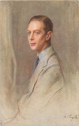 HIS MAJESTY KING GEORGE VI  facing left, looking front/left