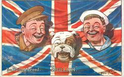 BULLISH  heads of bulldog, soldier & sailor, flag