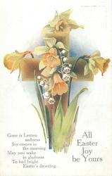 ALL EASTER JOY BE YOURS  lilies of the valley & daffodils