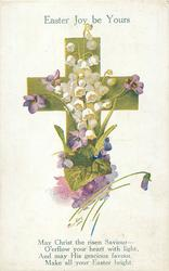 EASTER JOY BE YOURS  lilies of the valley & violets