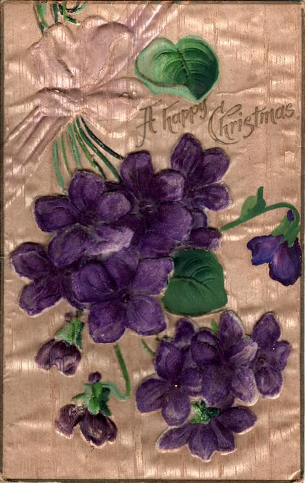 A HAPPY CHRISTMAS  purple violets