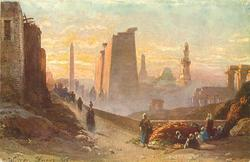 THE TEMPLES OF LUXOR IN THE MORNING
