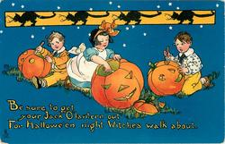 BE SURE TO GET YOUR JACK O LANTERN OUT FOR HALLOWE'EN NIGHT WITCHES WALK ABOUT