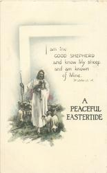 A PEACEFUL EASTERTIDE  Jesus leads flock of sheep