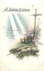 A JOYFUL EASTER  sheep, sunbeams