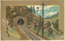 train coming out of tunnel