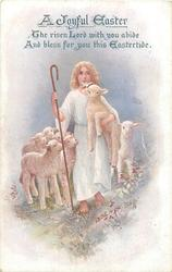 A JOYFUL EASTER  Jesus as shepherd, lambs
