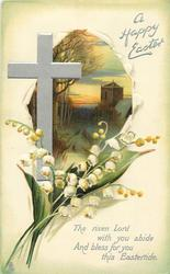 A HAPPY EASTER  lilies-of-the-valley