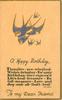 A HAPPY BIRTHDAY TO MY DEAR FRIEND   gilt & blue-birds