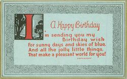 HAPPY BIRTHDAY   I'M SENDING YOU ...