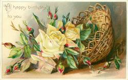 A HAPPY BIRTHDAY TO YOU  basket of  yellow roses