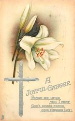 A JOYFUL EASTER,   Easter lilies