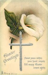 EASTER GREETINGS  calla lily upper centre