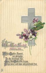 MAY EASTER SUNLIGHT GLADDEN YOU  violets
