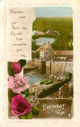 A BIRTHDAY WISH  harbour view & roses
