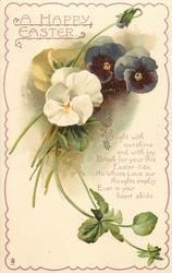 A HAPPY EASTER  pansies