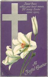 A JOYFUL EASTER  Easter lilies