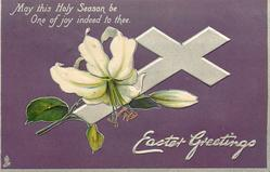 EASTER GREETINGS  Easter lily