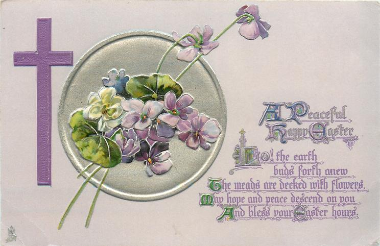 A PEACEFUL HAPPY EASTER  violets
