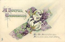 A JOYFUL EASTERTIDE  violets & Easter lilies